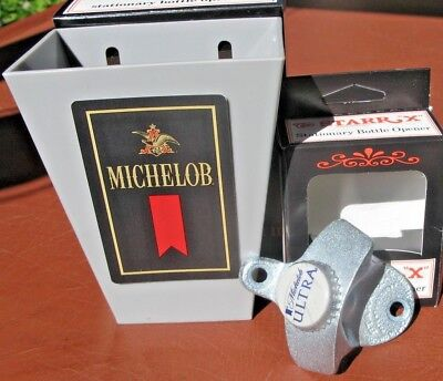 Michelob Ultra Beer Bottle Cap Opener &  Card / Cap Catcher Bar Pub  NEW in BOX