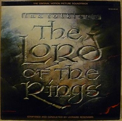1978 OST Soundtrack Double LP THE LORD OF THE RINGS Leonard Rosenman