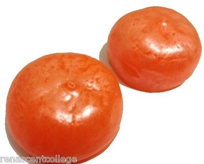 NEW SILICONE 2 x ORANGES SOAP/CANDLE MOULD for MELT & POUR GLYCERINE SOAP CRAFT