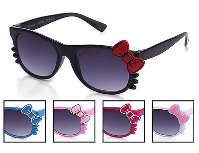 Kids Girl Youth Sunglasses Bow and Whiskers Hello Kitty Style Many Colors