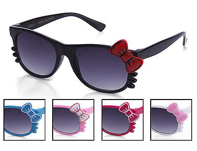 Kids Sunglasses Bow and Whiskers Hello Kitty Style Many Colors
