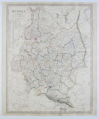 Sduk Map Russia In Europe General Map 1840 Published 1844