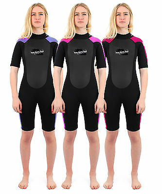 Two Bare Feet SUPAFLEX SHORTY Womens Wetsuit - 3mm Surf Diving Ladies