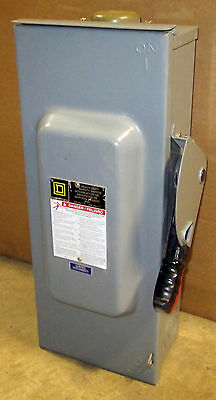 O Square D 100 Amp Safety Switch H223NRB 3R Outdoor Fusible 240V 2 P  Disconnect