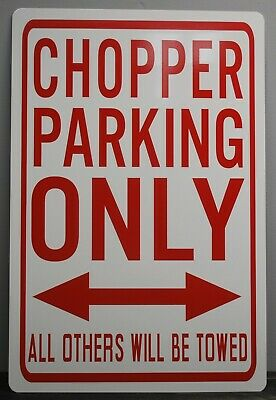 Metal Street Sign Chopper Parking Only Harley Motorcycle Easy Rider