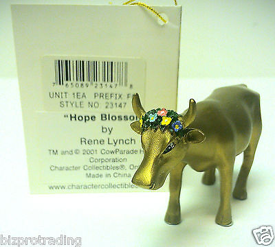 Cow Parade Miniture Hope Blossom  MINI Cows On Parade  by Rene Lynch