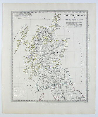 Sduk Map Ancient Britain Scotland England 1834 Published 1844