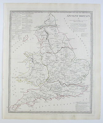Sduk Map Ancient Britain England Wales 1834 Published 1844