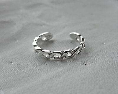 Twist Design Toe Ring 925 Sterling Silver