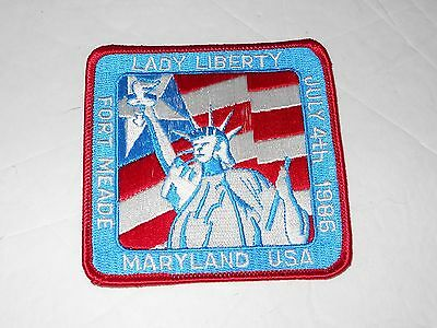 Fort Meade July 4th 1986 Lady Liberty Maryland Patch