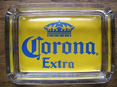 Corona Beer Card & Glass Ashtray  Key , Ring , Change or Candle Tray  NEW in BOX