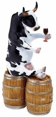 Cow Parade Enjoying A Tipple Collectible Figurine 47823