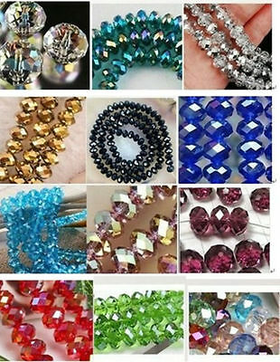 Wholesale!!  New 12 Colors Swarovski Crystal Loose Beads 4x6mm /6x8mm /4-12mm