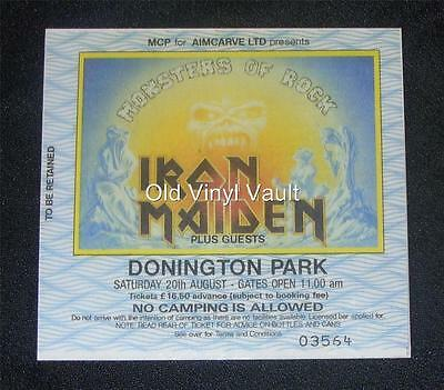 Iron Maiden-Monsters Of Rock,Donington UK 1988-Laminated Repro Concert Ticket