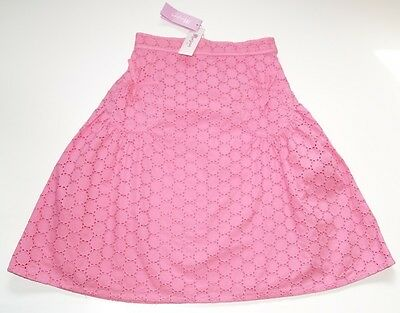 BNWT MONSOON  Girls Casual Designer Pink Cotton Lined Skirt Age 6-8 Elasticated