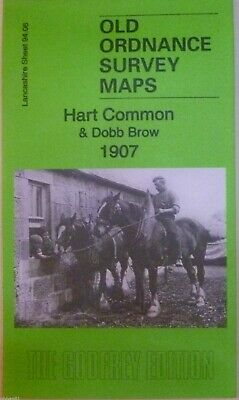 Old Ordnance Survey Maps Hart Common & Dobb Brow Lancashire 1907 Sheet 94.06 New