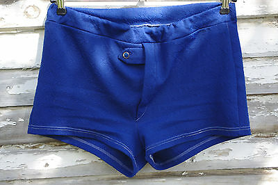 True Vintage Badehose 70er royal blau shorts swimming trunks 70s royalblue 80er