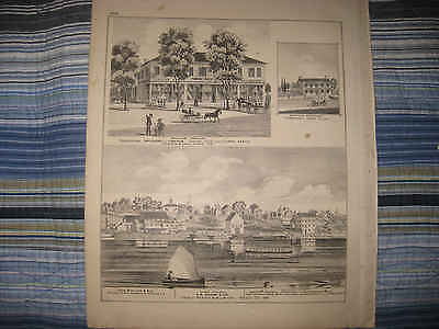 ANTIQUE 1875 PERRYSBURG WOOD COUNTY OHIO PRINT SYLVANIA WASHINGTON TOWNSHIP NR