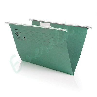 50 x FOOLSCAP Heavyweight Suspension Files With Tabs & Inserts - 400mm Runner