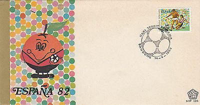 (22550) FDC Indonesia - Football Spain 1982