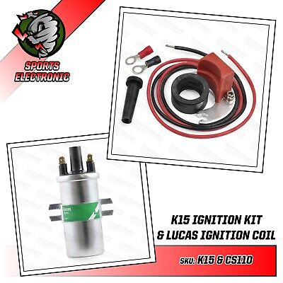 Bedford Rascal Electronic Ignition Conversion Kit & Lucas DLB110 Ballast Coil