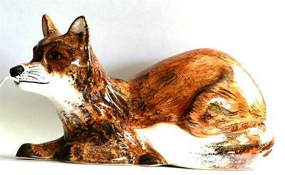 Fox Lying Babbacombe Pottery China String Holder Hand Painted Hunting Gift
