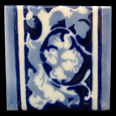 Mexican Ceramic Tile Cobalt Blue And White Ciasa Made In Mexico