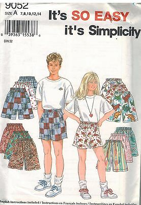 5164a4f7a6 9853 UNCUT VINTAGE Simplicity Sewing Pattern Girls Boys Loungewear ...