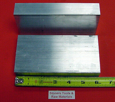 "2 Pieces 1"" X 3"" ALUMINUM 6061 T6511 SOLID FLAT BAR 6"" long 1.000"" Mill Stock"