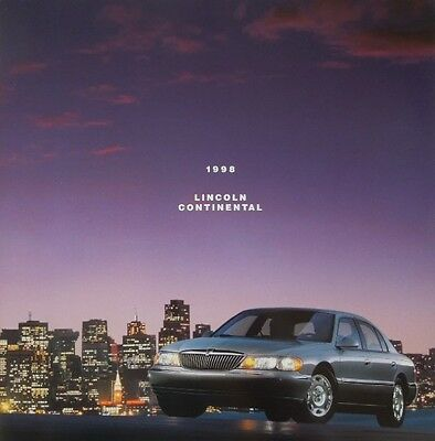 1998 Lincoln Continental 22-Page Deluxe Sales Brochure w/Paint Chips - Mint!