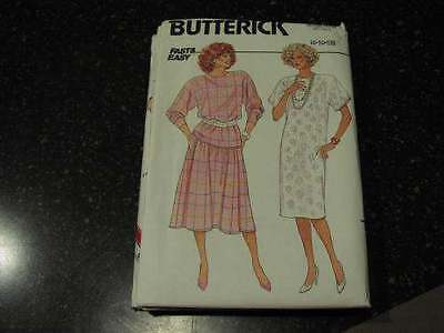 Uncut Vintage Butterick Sewing Pattern Top Skirt 3670 Dress