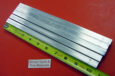 "5 Pieces 1/2"" X 1/2"" ALUMINUM SQUARE 6061 T6511 FLAT BAR 10-1/2"" long Mill Stock"