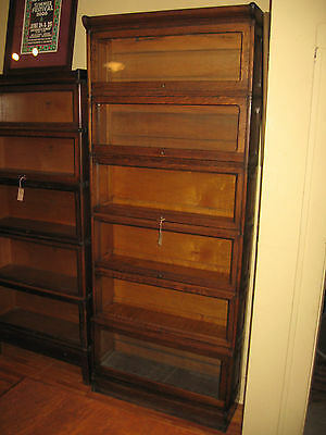 Antique Vilas Divan Mission Oak Stack 6 Sectional Bookcase Barrister Paneled