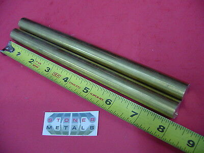 """2 Pieces 5/8"""" C360 BRASS SOLID ROUND ROD 8"""" long H02 Lathe Bar Stock 1/2 Hard"""