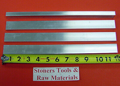 "4 Pieces 3/8"" X 3/4"" ALUMINUM 6061 FLAT BAR 12"" long T6511 .375"" New Mill Stock"