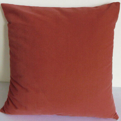 Rust Suede Like Velvet Cushion Cover Case Made to Order #u17-cc-tp-16