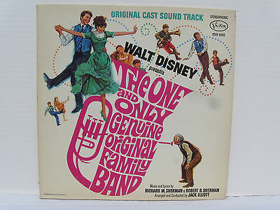 One and Only Genuine Family Band vinyl LP 1968 NM Walt Disney w/ booklet