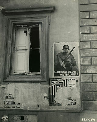 1944 MR Italy German Propaganda Poster in Florence 8x10 Photo