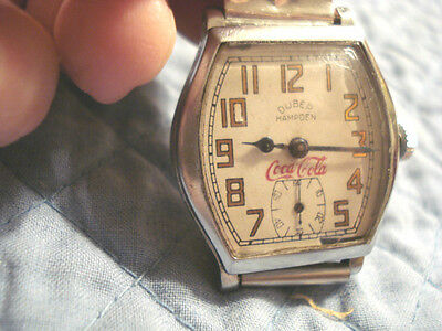 Hampden Duber Molly Stark Lever Set Coca Cola  Watch, Works Circa 1920's