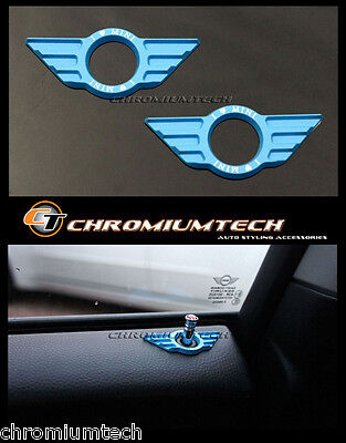 BMW MINI Cooper/S/ONE/Roadster/Clubman/Coupe DOOR PIN Surround LIGHT BLUE