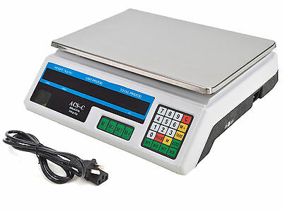 Digital Weight Scale 60LB Price Computing Food Meat Scale Produce Deli Indutrial