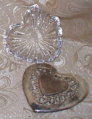 Shabby Vintage Cut Glass Dish Tray Silverplate Reticulated Lid Chic Cottage Deco