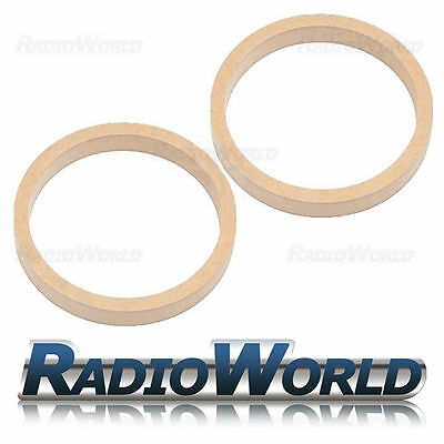 "6.5"" 165mm MDF Speaker Spacer Mounting Rings 22mm Thick ID 144mm ED 177mm Pair"