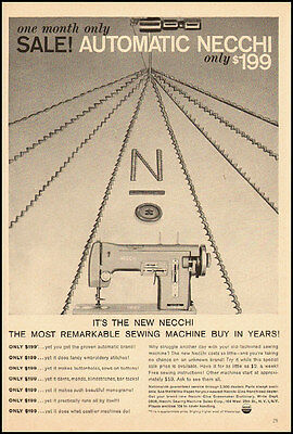 1959 vintage ad for NECCHI AUTOMATIC SEWING MACHINES -090812