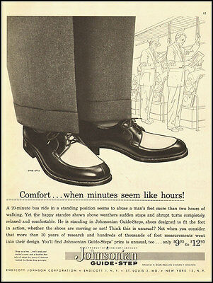 1950s vintage ad for Johnsonian Guide-Step Shoes -061312