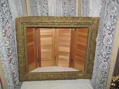 ~Antique Nice Ornate Gesso Wooden Picture Frame~