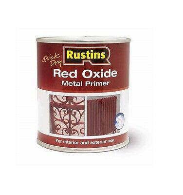 Rustins Red Oxide Metal Primer Paint For Gate Interior Exterior Surface Outdoor