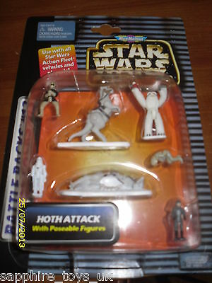 Star Wars Micro Machines Hoth Attack With Poseable Figures - Battle Pack #13