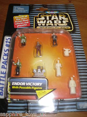 Star Wars Micro Machines Endor Victory With Poseable Figures - Battle Pack #15