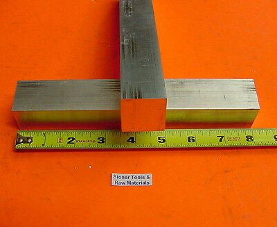 "2 pieces 1-1/2""x 1-1/2"" SQUARE ALUMINUM 6061 T6511 FLAT BAR 8"" long Mill Stock"